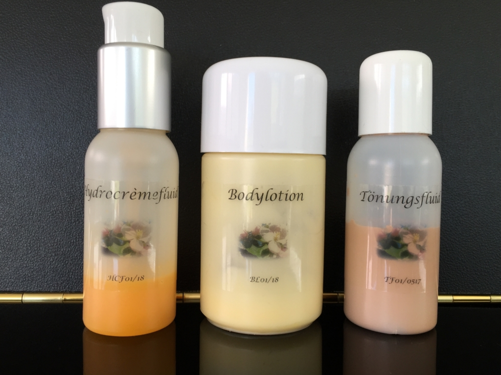 Feuchitgkeitsfluid -Bodylotion - Tönungsfluid